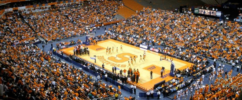 SU Basketball in the Carrier Dome - Photo courtesy of Flickr - Credit MattCC716